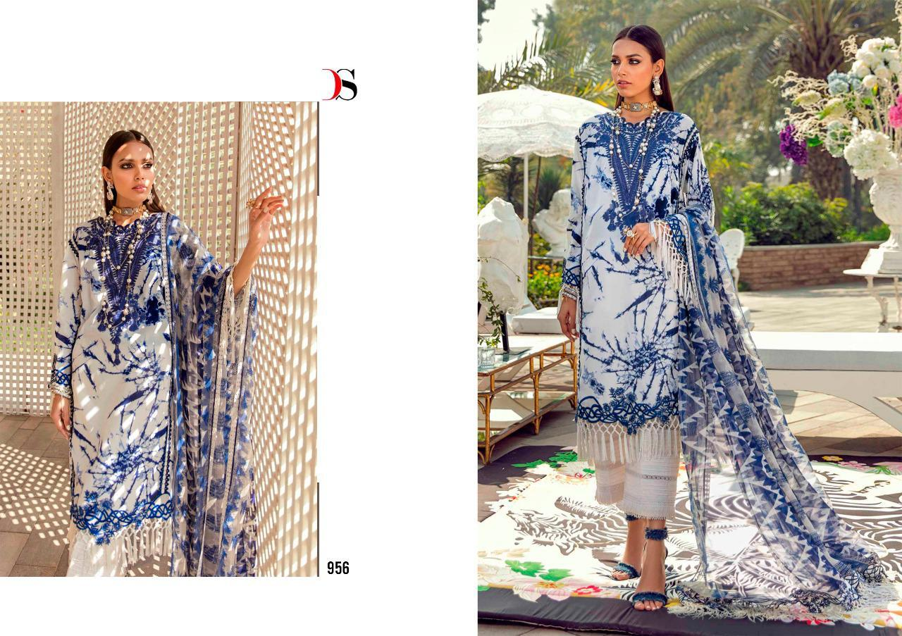 Deepsy Suit Sana Safinaz Muzlin 2 Designer Cotton Print With Embroidery Work Suits In Singles