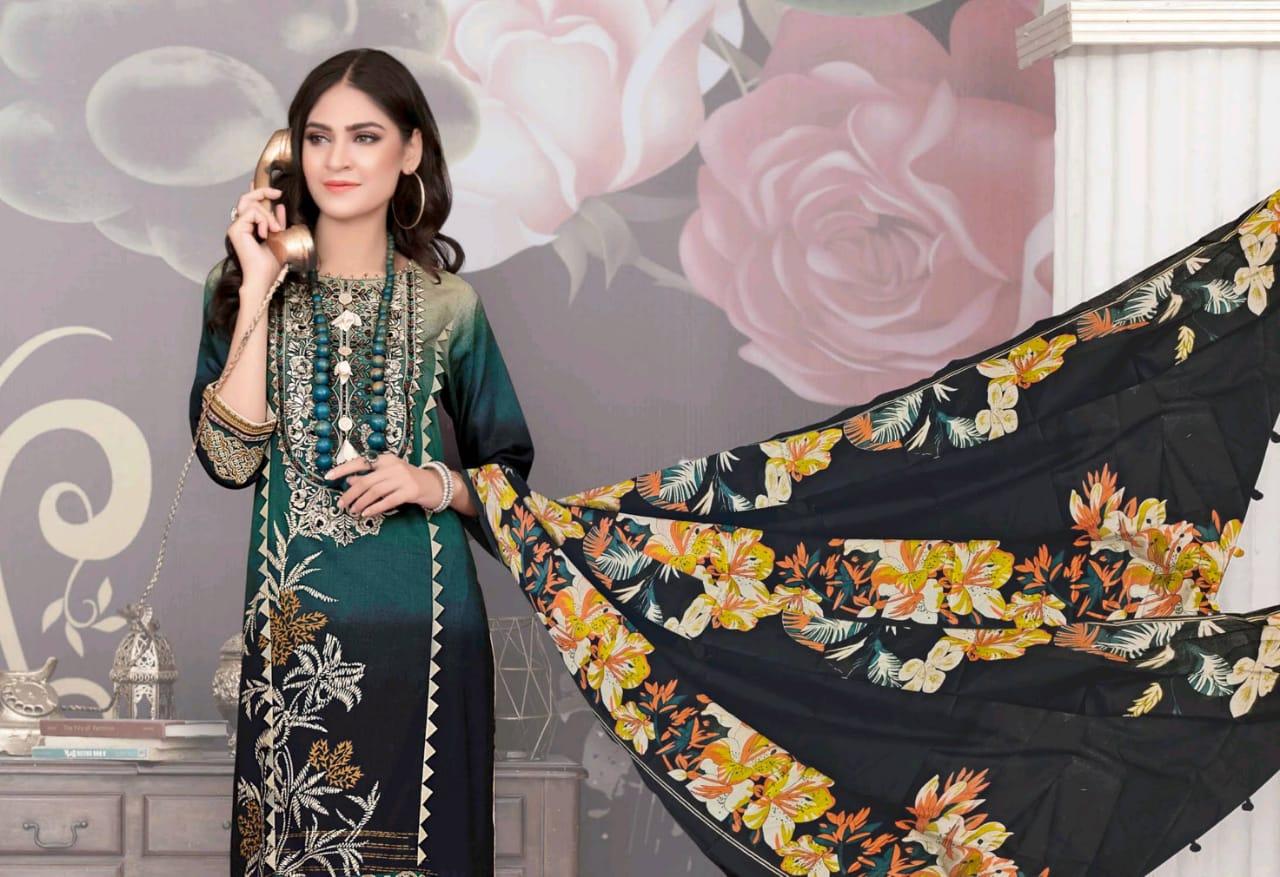 Al Akram Vol 3 Kesariya  Magic In Print Designer Cambric Cotton Digital Printed Suits Wholesale
