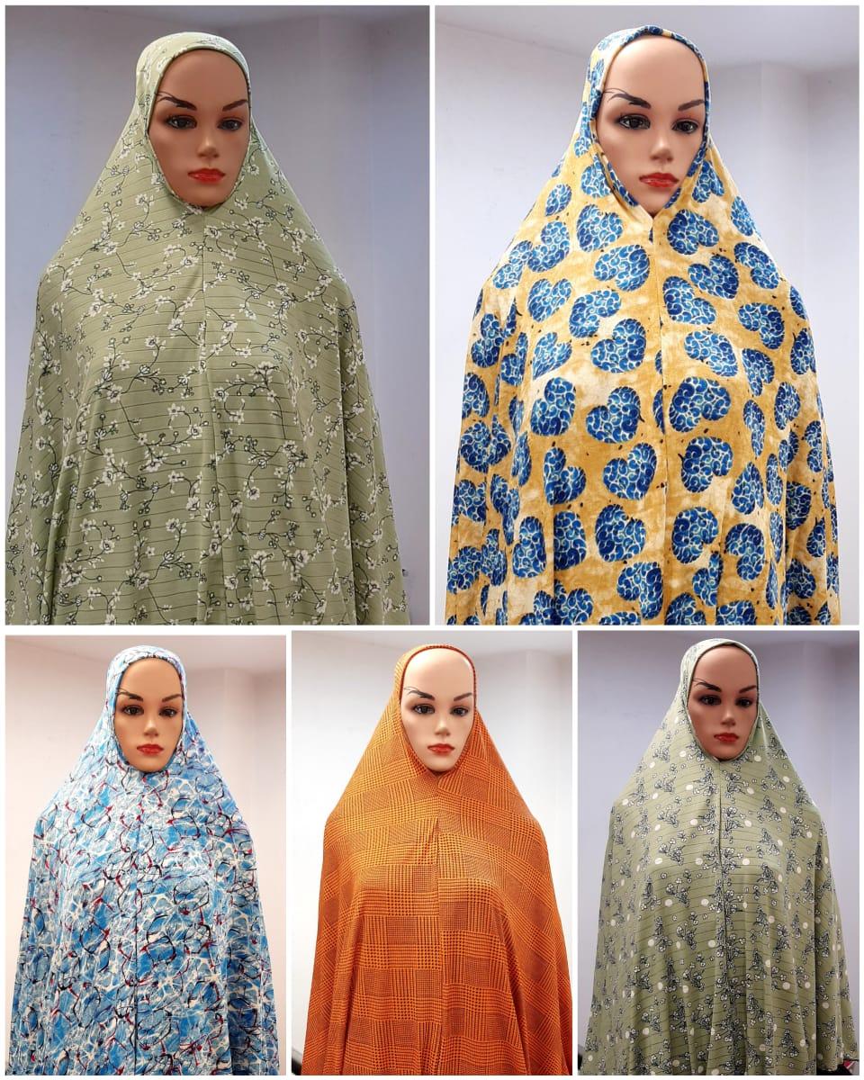 V Cut Big Namazi Printed Rumali Cotton Mix Lycra Fabric In Singles