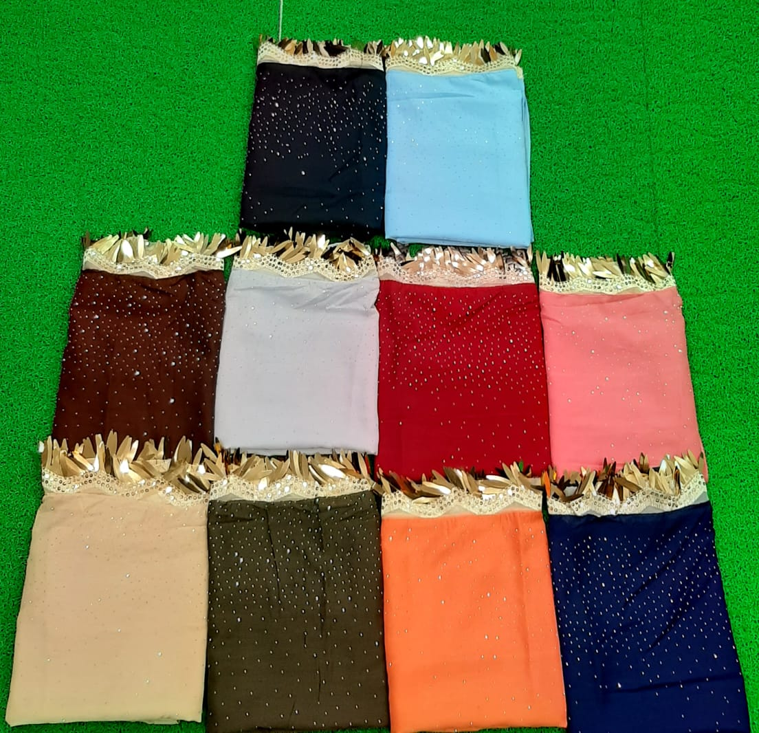 Cotton Dupatta Collection Designer Cotton Dupattas With Elegant Colors And One Side Designer Lace In Singles