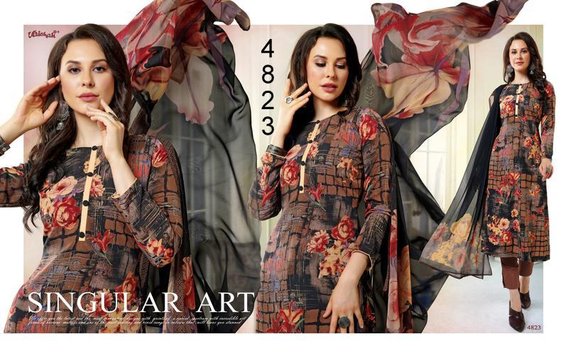 Vaishali Prints Crepe  Unstitched Suits In Best Wholesale Rate