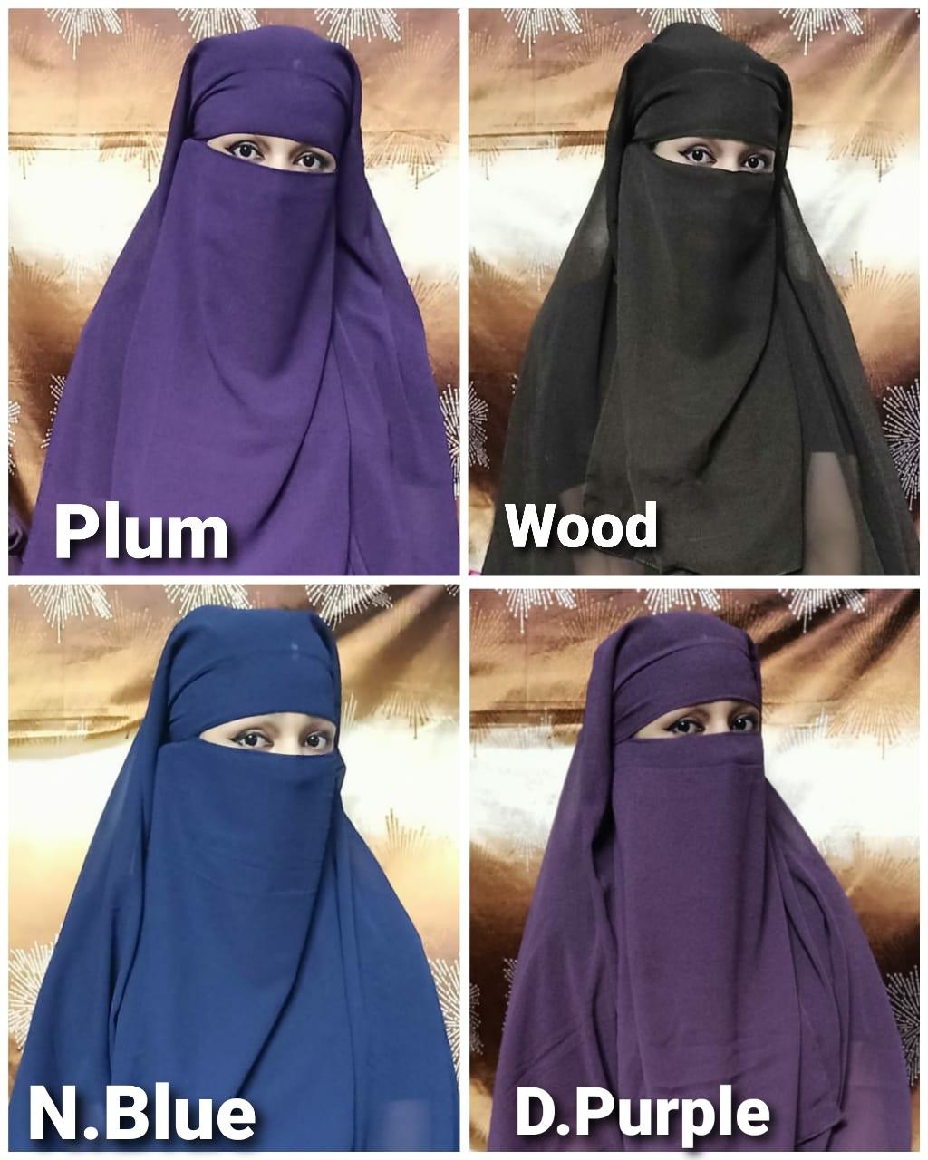 Tehran Hijab Designer Instant Wear Hijab Dupatta With Front Button Chiffon Georgette Dupatta In Singles
