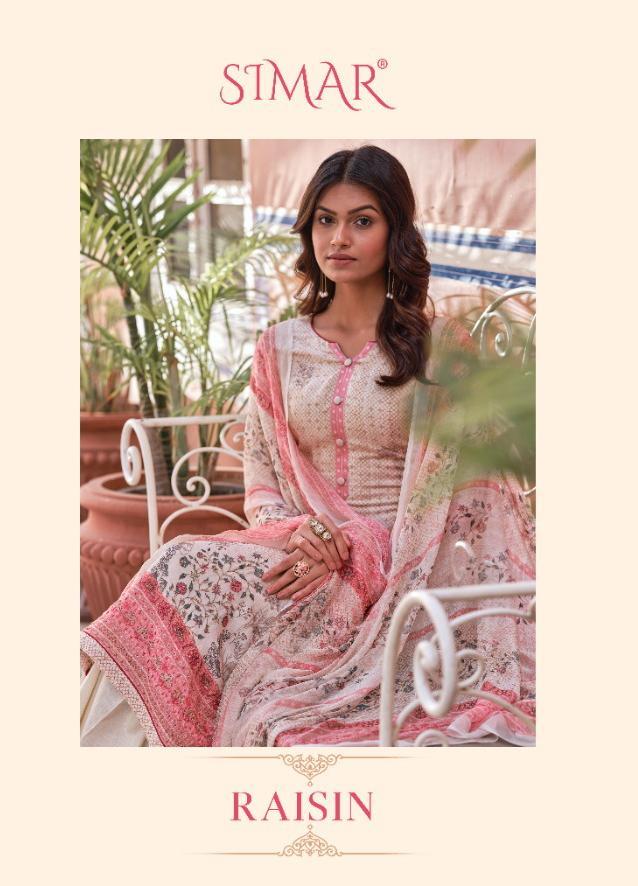 Simar Glossy Raisin Designer Muslin Digital Print With Handwork Suits In Best Wholesale Rate