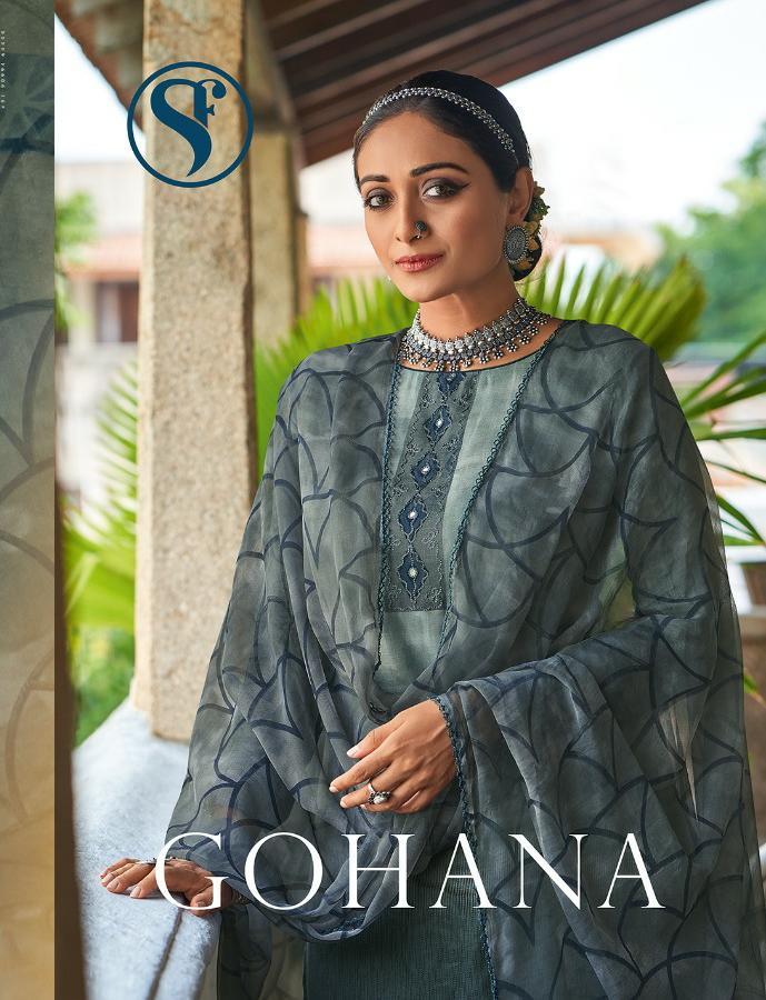 Sweety Fashion Gohana Designer Cotton Satin With Mirror Work Suits Wholesale