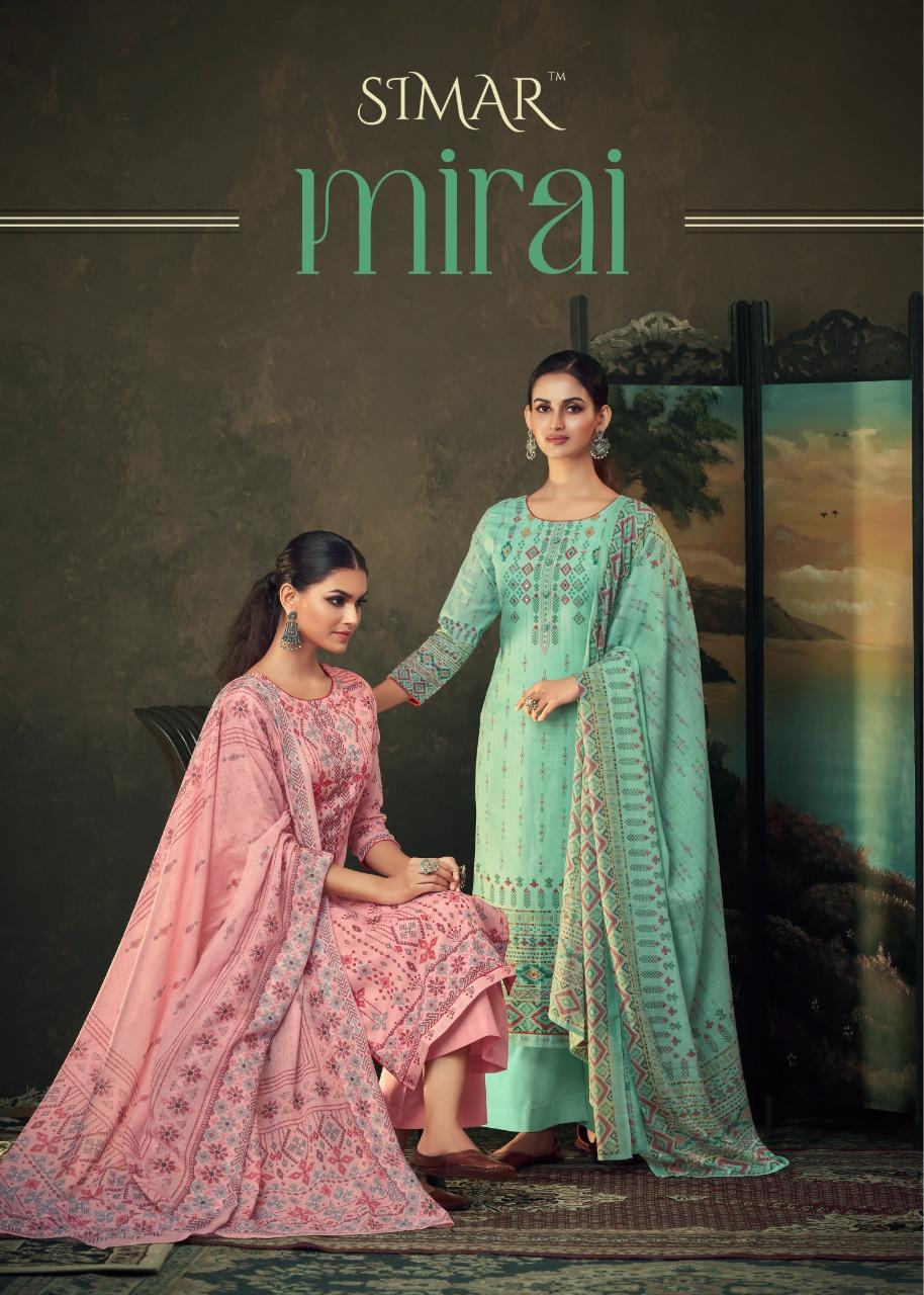 Simar Glossy Mirai Designer Muslin Digital Print With Handwork Suits Wholesale