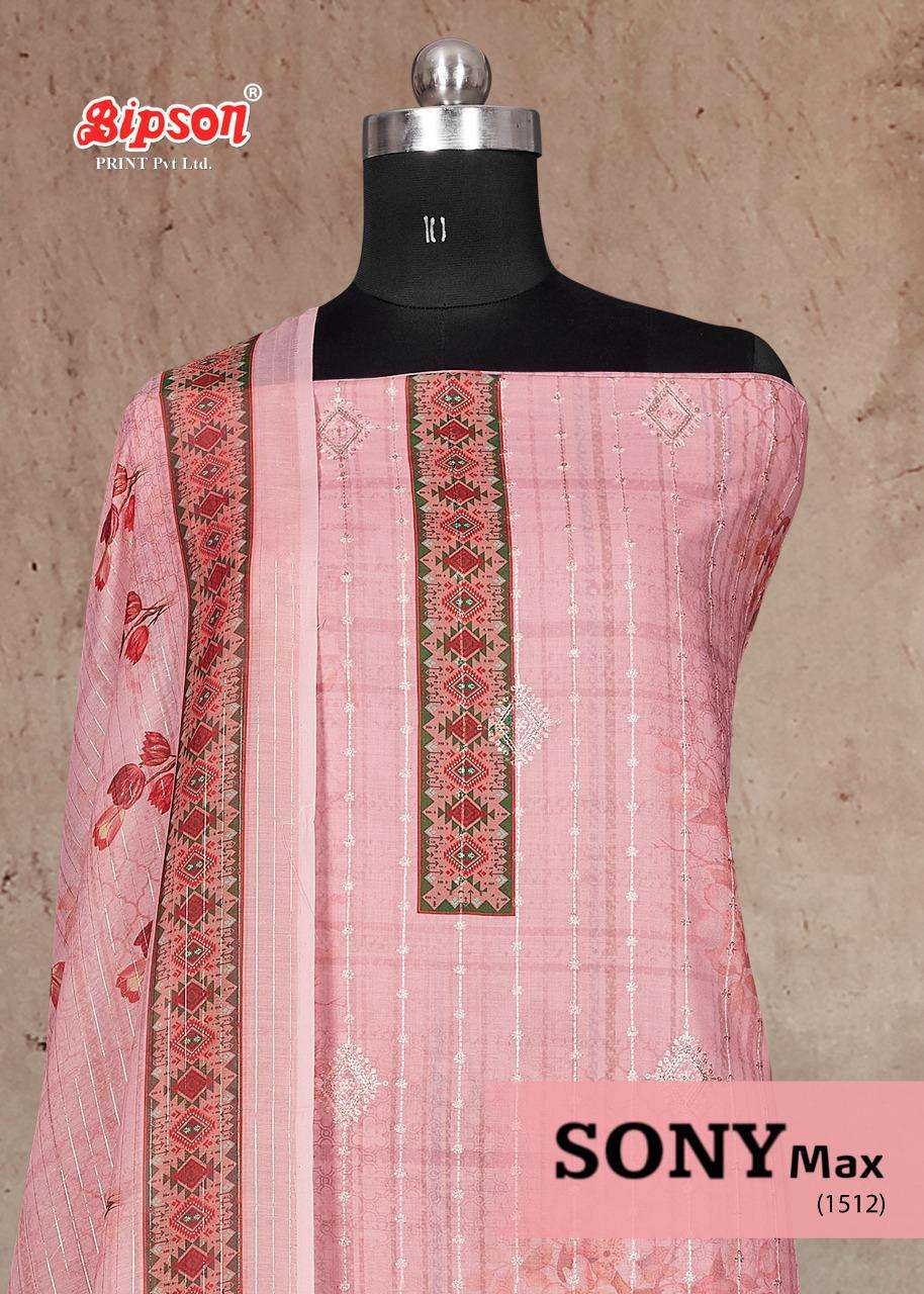 BIPSON SONY MAX DESIGNER COTTON SATIN DIGITAL PRINT WITH SEQUENCE WORK SUITS WHOLESALE