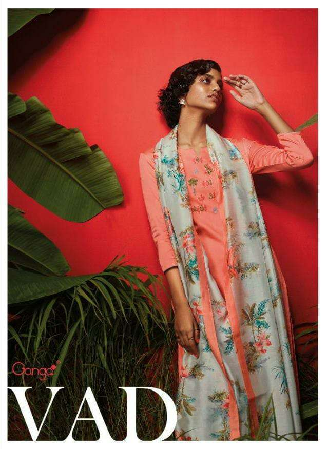 GANGA VAD DESIGNER DESIGNER EMBROIDERED WITH PREMIUM COTTON PRINTED SUITS IN BEST WHOLESALE RATE