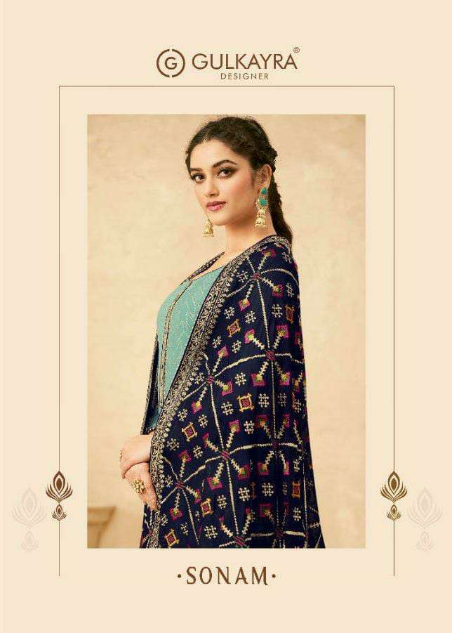 GULKAYRA SONAM DESIGNER REAL GEORGETTE WITH EMBROIDERY WORK SUITS WHOLESALE