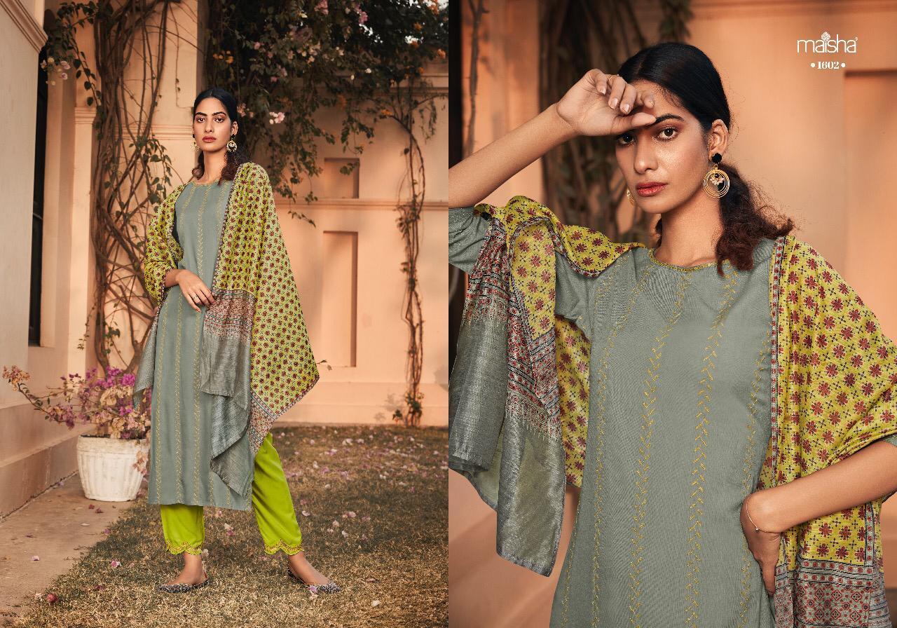 Maisha Maskeen Alayah Designer Pure Rayon Embroidery Ready Made Suits Wholesale