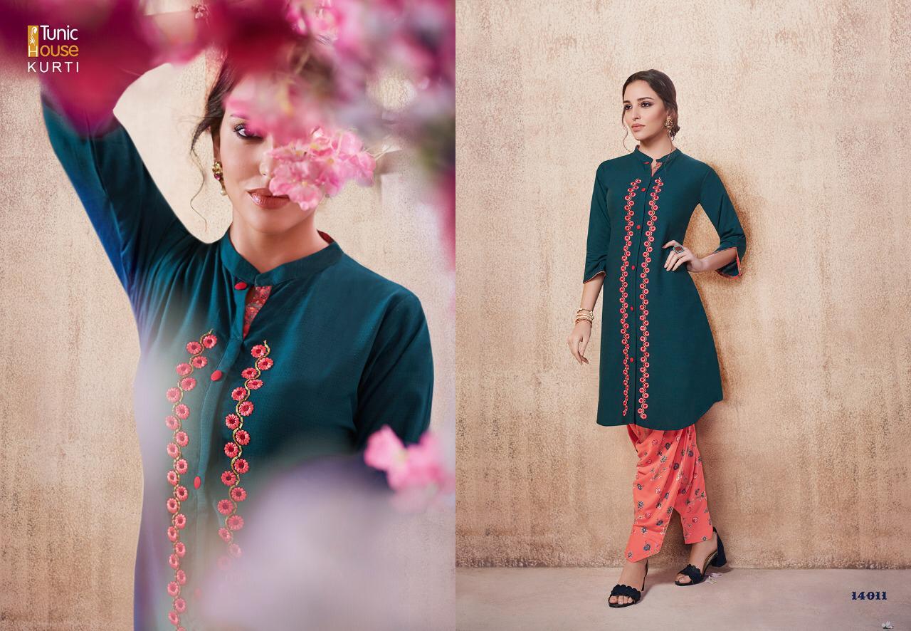 Glorist New  Tunic House Kurti Designer Party Wear Heavy Embroidery Kurti Wholesale