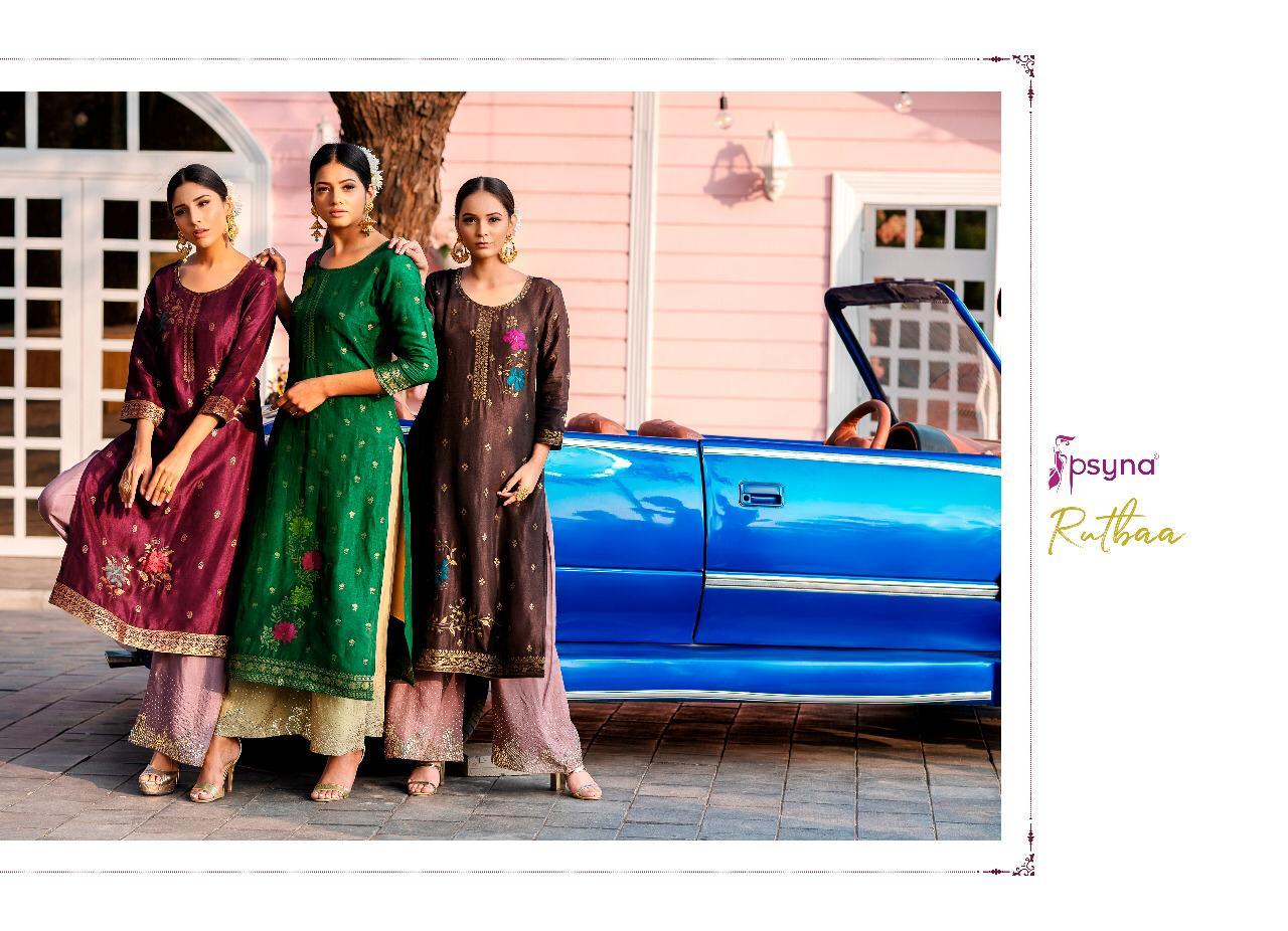 Rutba Psyna Pure Dolla Silk Designer Party Wear Fashionable Kurti Wholesale