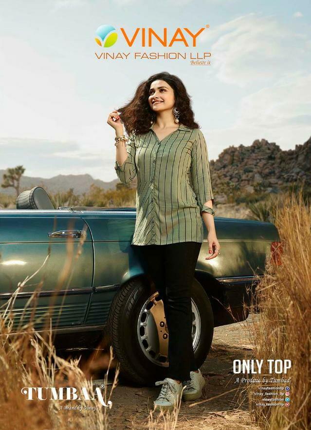 Vinay Fashion Tumbaa Only Top Designer Printed Rayon Slub Wholesale