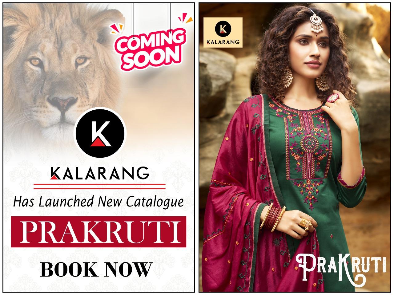 Kalarang  Prakruti Pure Jam Silk Cotton Designer Parry Wear Hesvy Embroidery Suits Wholesale