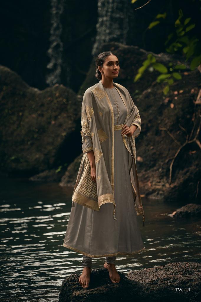 Varsha Fashions Tehvar Embroided Digital Print Suits Wholesale