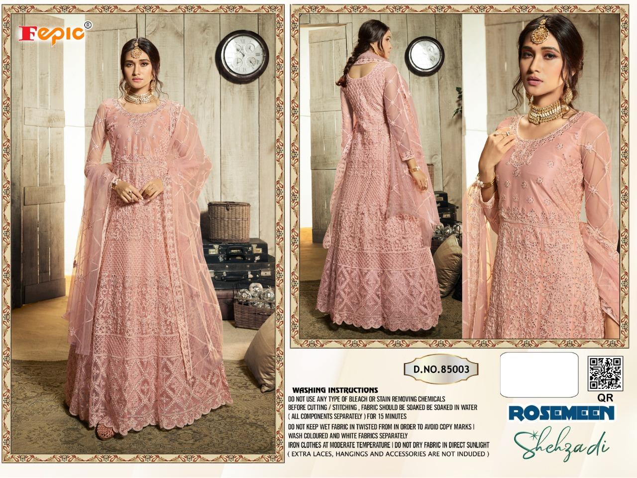 Fepic Rosemeen Shehzadi Blockbuster Vol 2 Designer Premium Net Wedding Wear Gown In Best Wholesale Rate