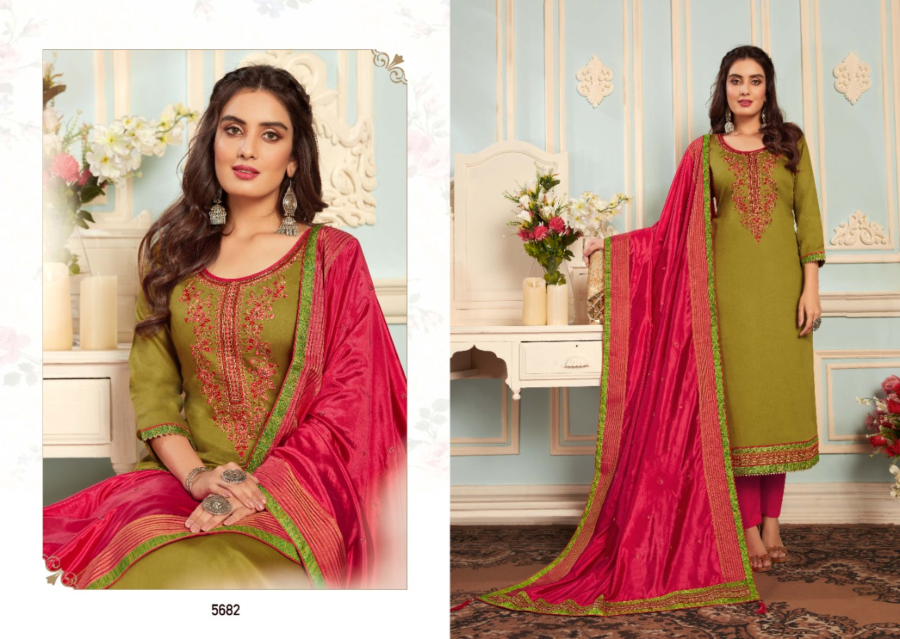 Kessi Silk Shine Vol 4 Designer Party Wear Jam Cotton Silk With Embroidery And Khatli Work Suits Wholesale