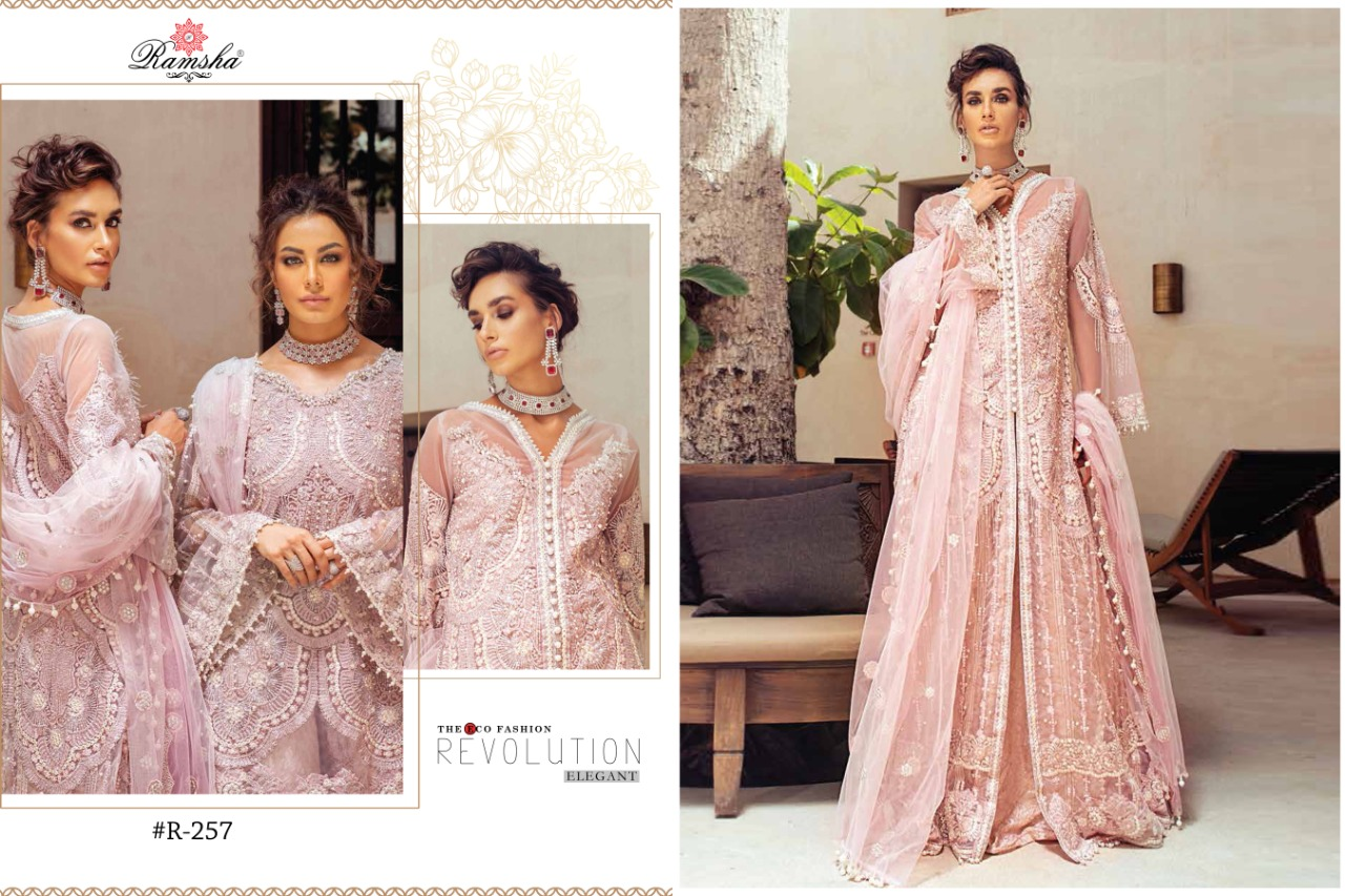 Ramsha Mushq Bridal Wear Collection Designer Party Wear Heavy Embroidery Suits Wholesale