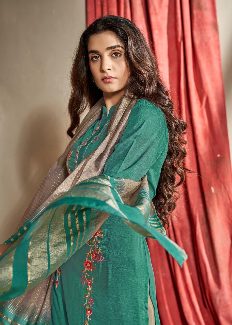 Vink Starlight 3 Designer Party Wear Viscose Silk Kurti With Plazo Wholesale