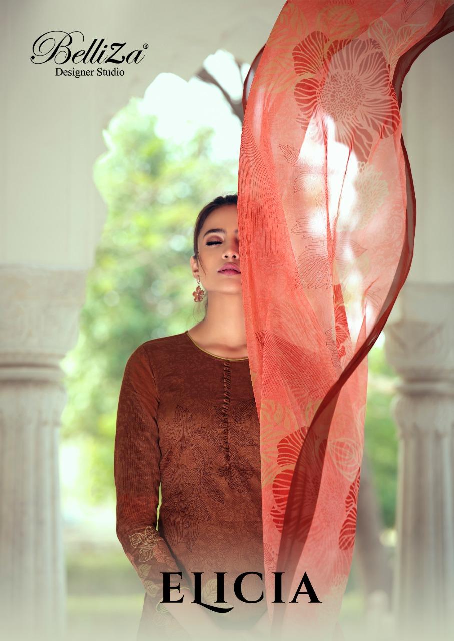 Belliza Designer Studio Elicia Pure Heavy Jam Cotton Digital Print Designer Suits Wholesale