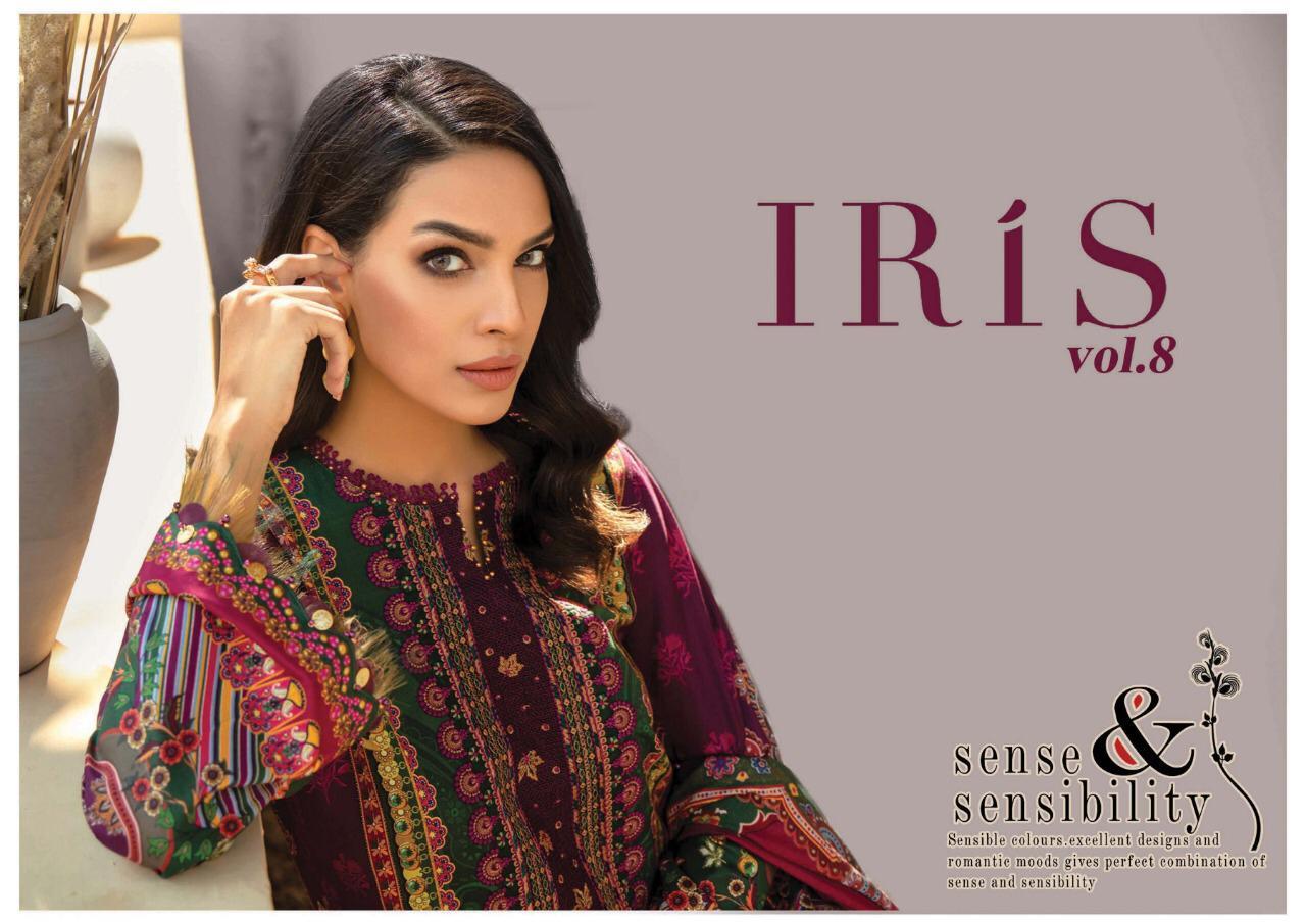 Iris Vol 8 Karachi Edition Designer Party Wear Cotton Suits Wholesale