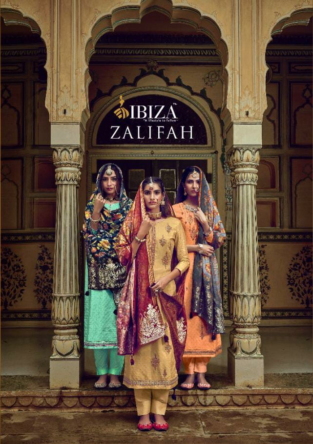 Ibiza Zalifah Designer Print With Fancy Border Suits Wholesale