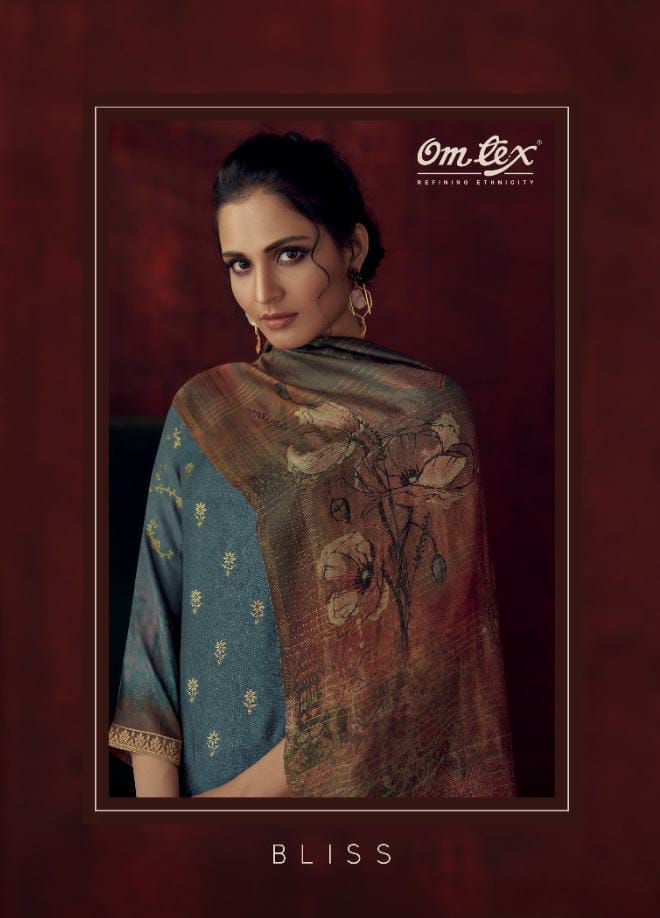 Omtex Bliss Designer Banarsi Jacquard With Handwork Suits Wholesale