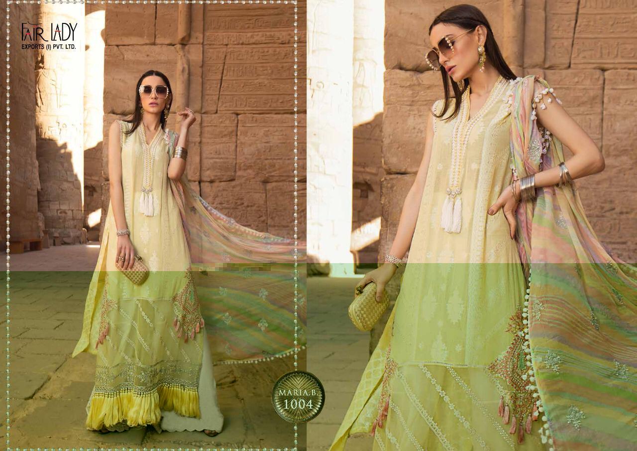 Fair Lady Maria B Premium Satin Designer Jam Satin With Embroidery Work Suit In Single