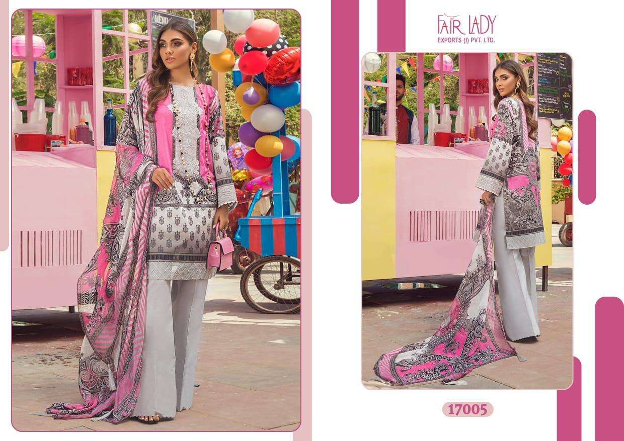 FAIR LADY AYESHA ZARA PREMIUM LAWN COLLECTION DESIGNER LAWN COTTON DIGITAL PRINT WITH HEAVY EMBROIDERY PATCH WORK PAKISTANI REPLICA SUITS WHOLESALE