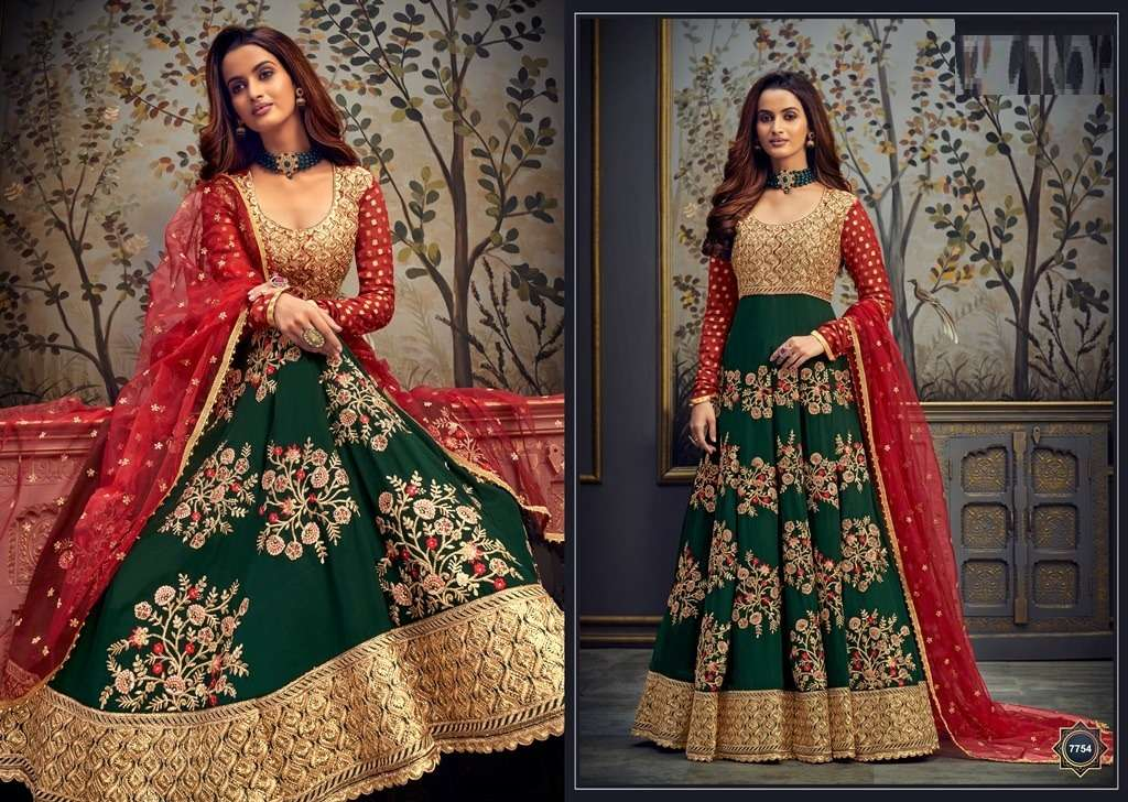 HOT LAADY 7754 DESIGNER GEORGETTE WITH SEQUENCE AND EMBROIDERY WORK SUITS IN SINGLES