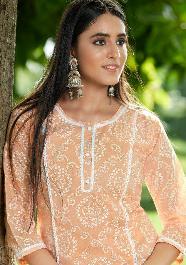 KALAROOP BY KAJREE LIZZY DESIGNER FANCY PRINTED PURE COTTON KURTI WITH PRINTED PURE COTTON PENT IN BEST WHOLESALE RATE