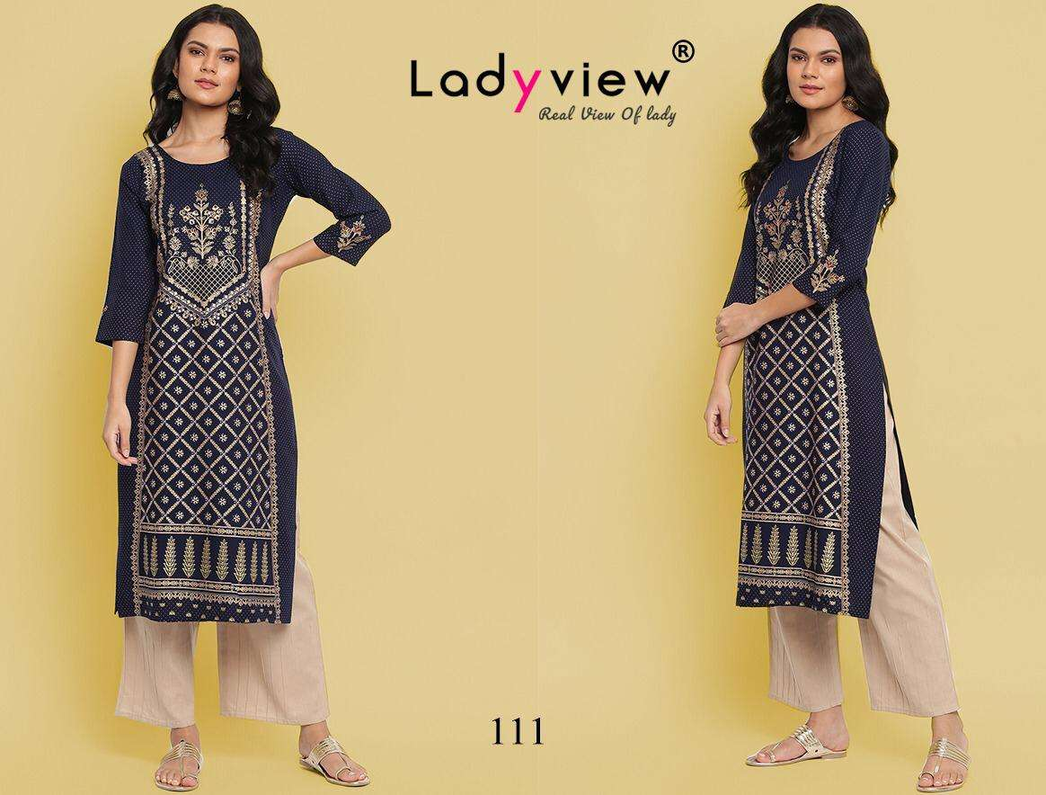 LADYVIEW GOLD VOL 1 DESIGNER RAYON WITH MULTI COLOR TABLE PRINT WHOLESALE