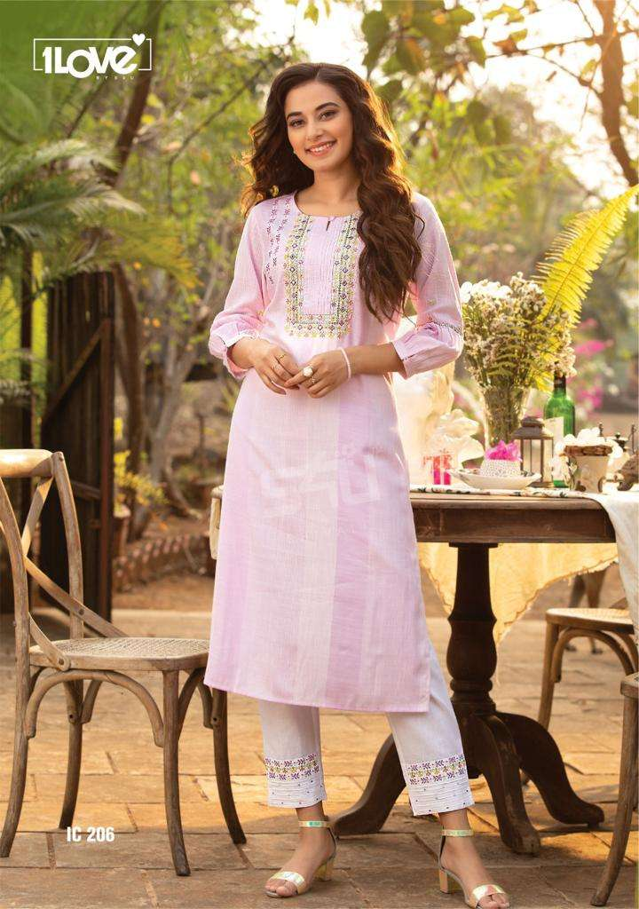 S4U INDI CHIC VOL 2 DESIGNER RAYON PRINTED WITH EMBROIDERY WORK KURTI AND PANT IN SINGLES