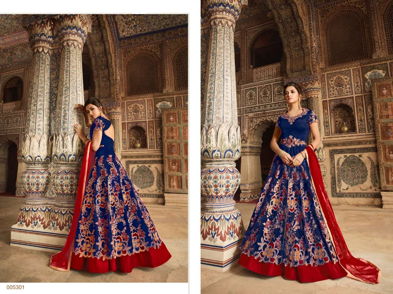 TAFETA WITH EMBROIDERY CODING WORK AND STONE WORK DESIGNER PARTYWEAR SUITS IN SINGLES