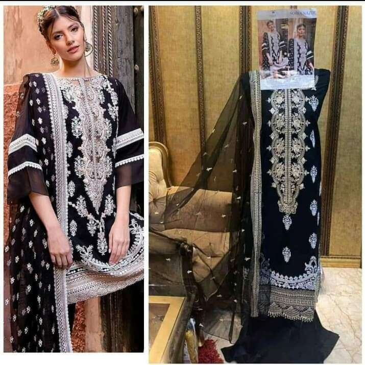 DEEPSY SUITS SOBIA NAZIR 03 DESIGNER COTTON WITH EMBROIDERY WORK PAKISTANI REPLICA SUITS IN SINGLES