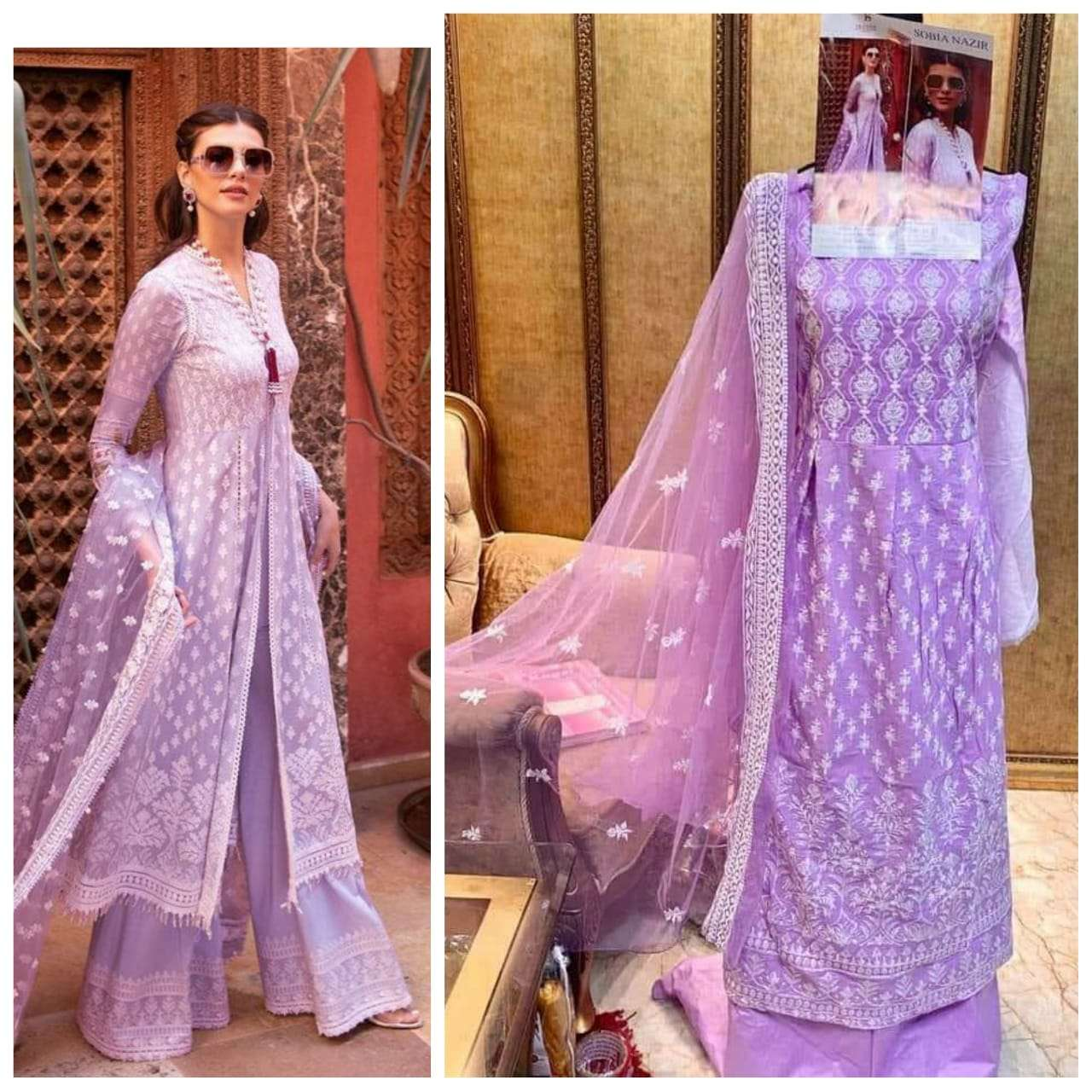 DEEPSY SUITS SOBIA NAZIR COTTON WITH EMBROIDERY WORK PAKISTANI REPLICA SUITS IN SINGLES