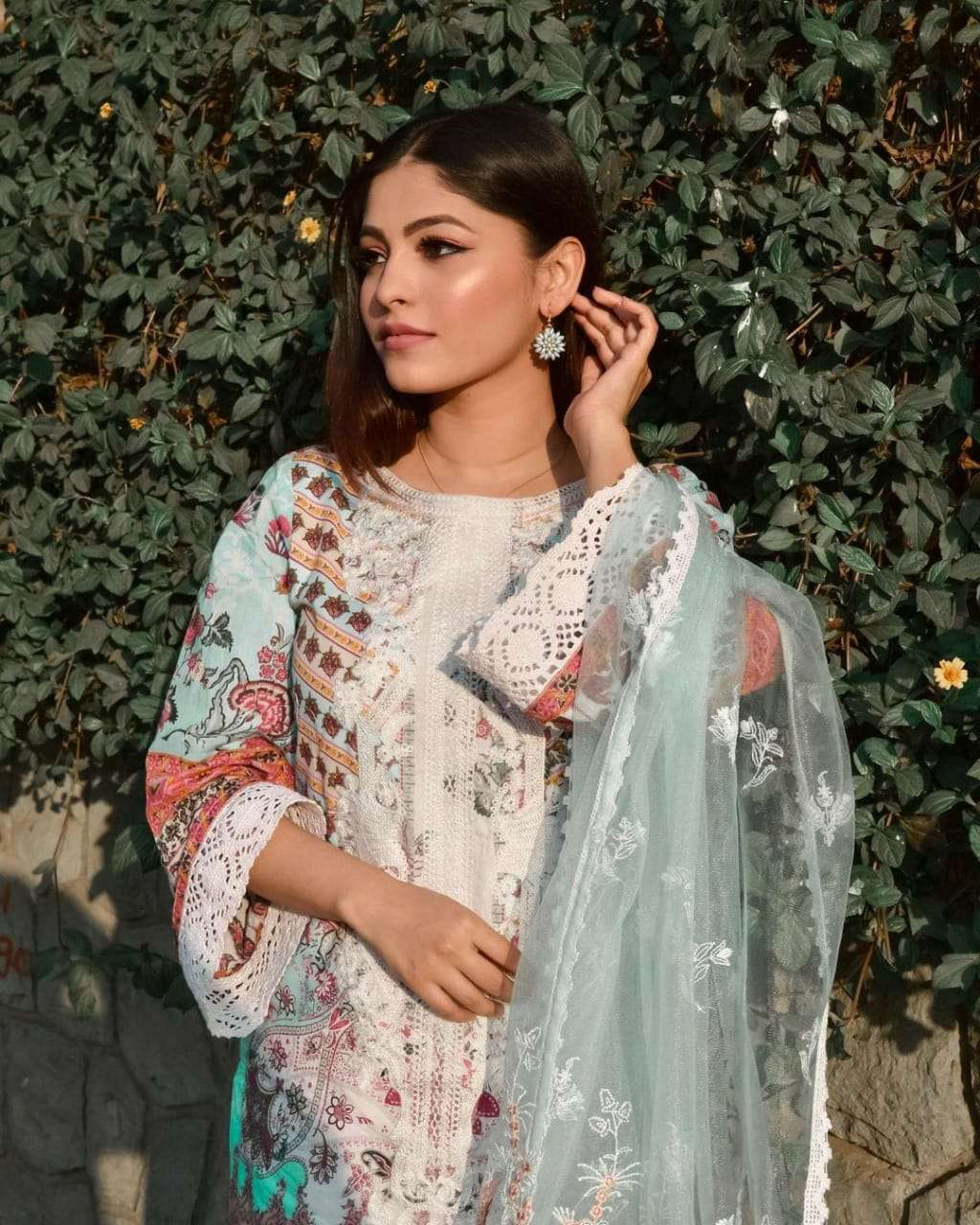 FEPIC SOBIA NAZIR D.NO 86003 DESIGNER CAMBRIC COTTON DIGITAL PRINTED SUITS IN SINGLES