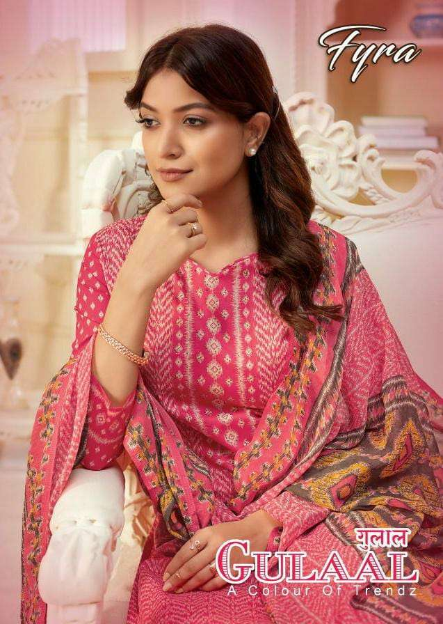 FYRA DESIGNING HUB BY ALOK SUITS GULAAL DESIGNER CAMBRIC COTTON DIGITAL PRINT WITH SWAROVSKI WORK SUITS WHOLESALE