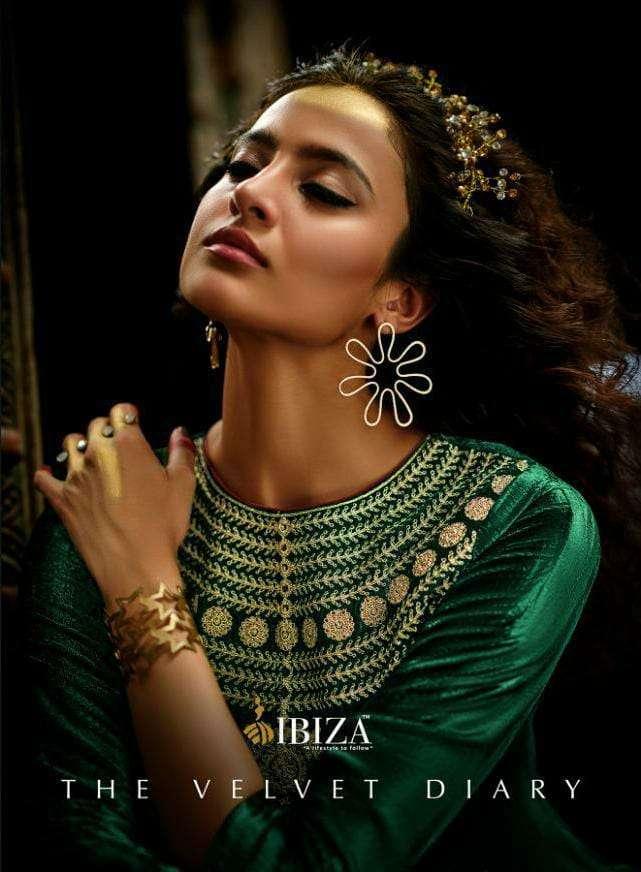 IBIZA THE VELVET DIARYS DESIGNER VELVET VISCOSE WITH DELICATE WORK SUITS WHOLESALE