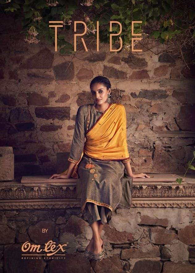 OMTEX TRIBE DESIGNER GULNER SILK EMBROIDERY WITH MIRROR WORK SUITS WHOLESALE