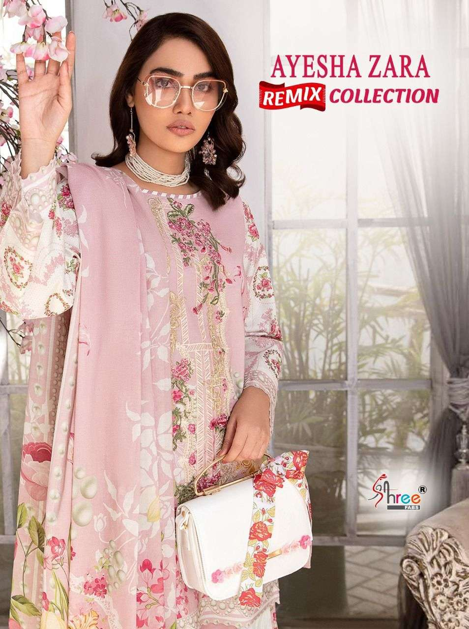 SHREE FAB AYESHA ZARA REMIX COLLECTION DESIGNER PURE COTTON PRINT WITH EMBROIDERY PATCH WORK SUITS WHOLESALE