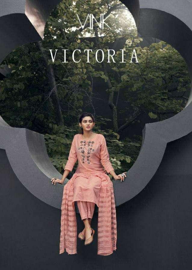 VINK VICTORIA DESIGNER ORGANZA SILK KURTA WITH PANT AND DUPATTA READYMADE COLLECTION WHOLESALE