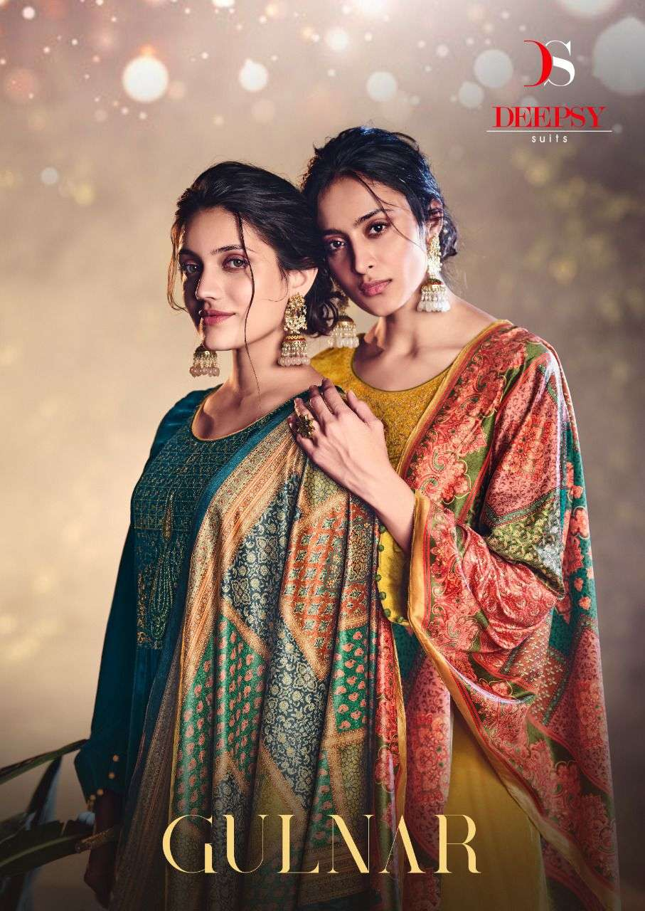 DEEPSY SUITS GULNAR DESIGNER VELVET WITH EMBROIDERY WORK PARTYWEAR SUITS WHOLESALE