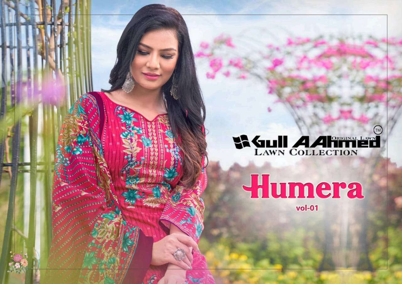 GULAHMED HUMERA VOL 1 DESIGNER LAWN PRINTED DAILY WEAR SUITS IN WHOLESALE RATE