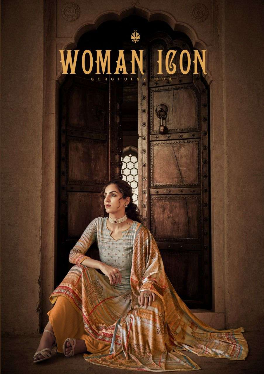 SARGAM WOMEN ICON DESIGNER PASHMINA DIGITAL PRINT WITH HANDWORK SUITS WHOLESALE