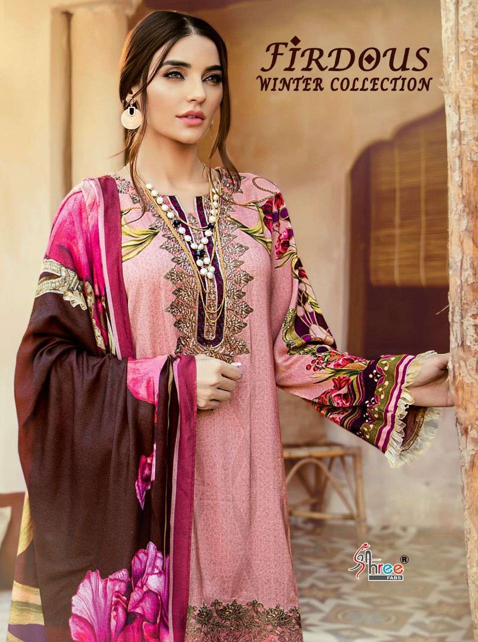 SHREE FAB FIRDOUS WINTER COLLECTION DESIGNER PASHMINA PRINT WITH EMBROIDERY WORK PAKISTANI PATTERN SUITS WHOLESALE