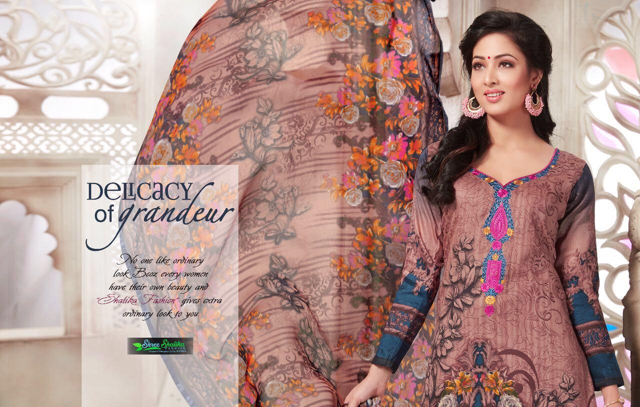 Shree Shalika Presents.. Volume-11 Pure Bemberg Dupatta & Cotton Mal Dupatta Top - Glace Satin (printed With Embroidery) Bottom- Cambric  10 Pcs Sets Price @ 995/-