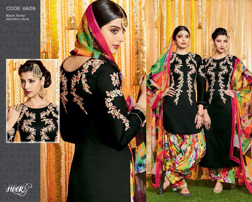 Heer 17 By Kimora In Sale  30*30 Pure Bemberg Chiffon Dupatta With Digital Print,  Pure Soft Cotton Satin,  Bottom Printed Pure Cotton Cambric  Rate 1250/- 12 Pcs Sets