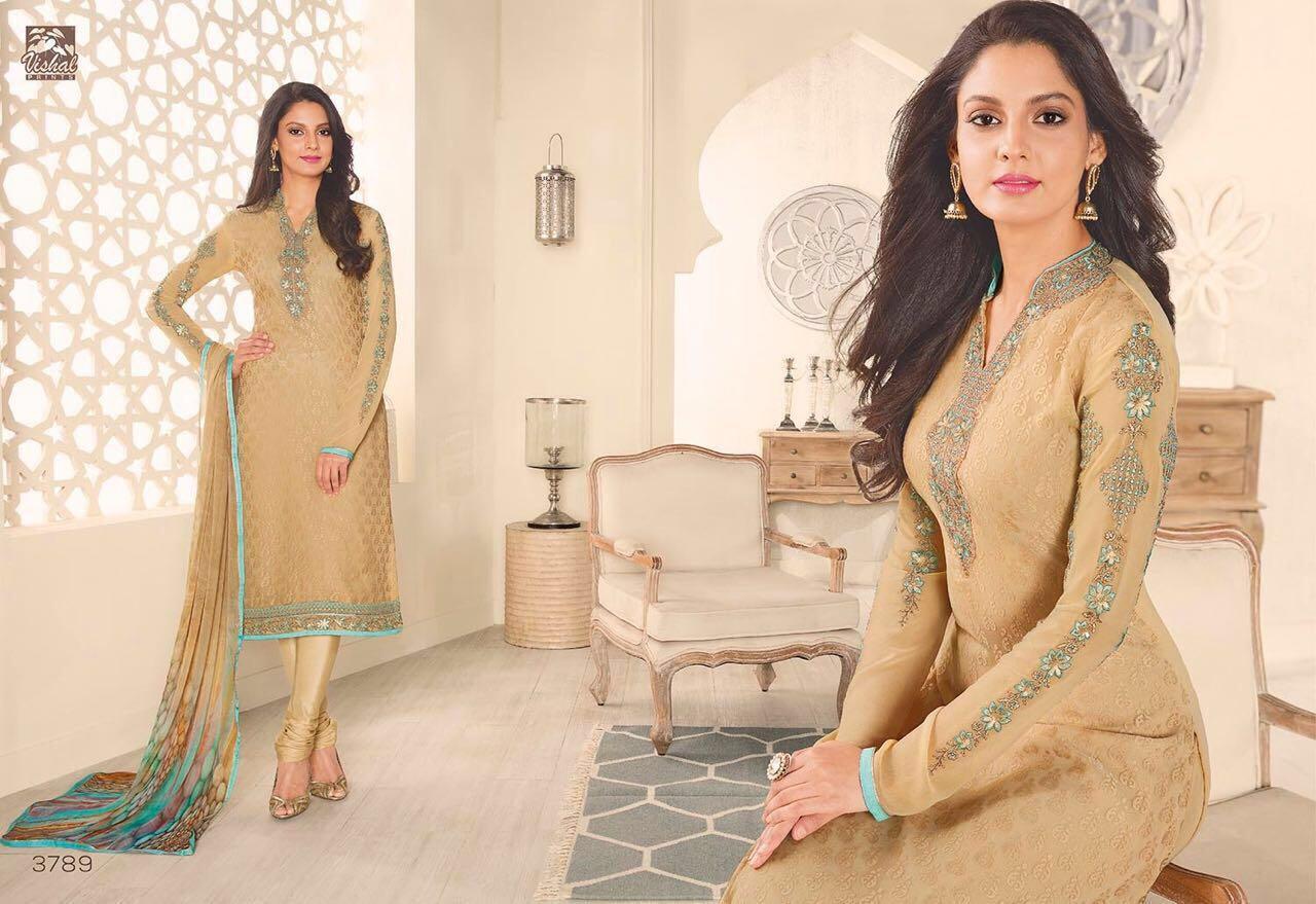 Zahra Vishal Brasso Collection With Printed Dupatta 1300/-