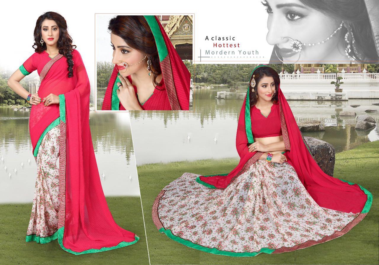 Anubhav Fashion Gangotri 5 Georgette Sarees Rate: 499/-