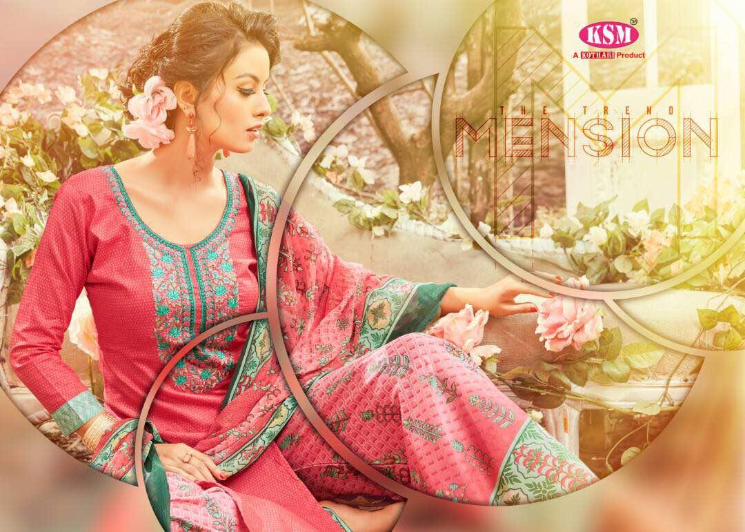 Ksm Presents Varsha  Printed Plazo Bottom Long Suits Concept Rate:695/-